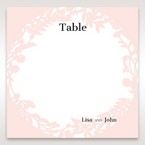 Pink Enchanted Forest I Laser Cut P - Table Number Cards - Wedding Stationery - 74