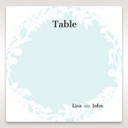 White Enchanted Forest II Laser Cut P - Table Number Cards - Wedding Stationery - 78