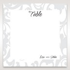Blue Laser Scrolling Grandeur Layered Laser Cut - Table Number Cards - Wedding Stationery - 18