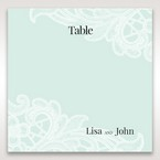 Blue Gatefold Floral Laser Cut - Table Number Cards - Wedding Stationery - 62
