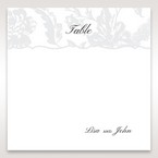 Silver/Gray Enchanted Floral Pocket III - Table Number Cards - Wedding Stationery - 55