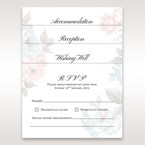Rose garden patterned stationery in vellum pocket