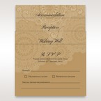 Victorian trifold wedding stationery in vellum pocket
