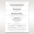 Accomodation, reception , wishing well , RSVP , vellum card floral designed