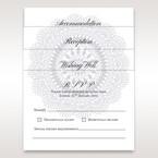 Wedding card insertions in vellum pocket, laser cut floral pattern watermark