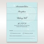 Matching stationery with sculpted flower pattern, light blue