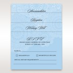 Matching floral patterned wedding stationery, vellum pocket