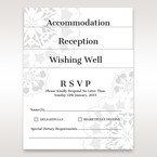 White Laser Cut Floral Frame - Reception Cards - Wedding Stationery - 69