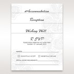 White Laser Cut Flower Frame - Reception Cards - Wedding Stationery - 75
