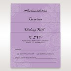 Purple Laser Cut Flower Frame III - Wishing Well / Gift Registry - Wedding Stationery - 65