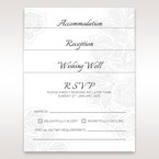 Matching RSVP, Wishing Well and Reception cards in vellum pocket