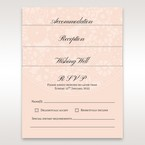 Pink RSVP; accommodation; reception and wishing well card in vellum pocket