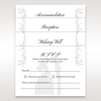 Bride and groom matching stationery in vellum pocket