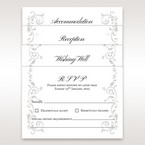 White Modern Times Vintage Pocket - Reception Cards - Wedding Stationery - 92