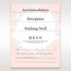 Pink Enchanted Forest I Laser Cut P - RSVP Cards - Wedding Stationery - 68