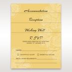 Yellow/Gold Laser Cut Flower Frame III - Wedding invitation - 78