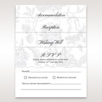 Set of accessory cards with floral design on pearl card stock, with black ink printing