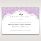 Purple Gold Foiled Floral Laser Cut - RSVP Cards - Wedding Stationery - 32