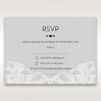 Silver/Gray Elagant Laser Cut Wrap - RSVP Cards - Wedding Stationery - 48