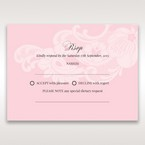 Pink Laser Cut Floral Half Pocket  - RSVP Cards - Wedding Stationery - 61