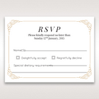 Yellow/Gold Embossed Borders with Classy Gold patterns - RSVP Cards - Wedding Stationery - 7