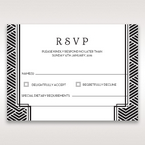 Yellow/Gold Dazzling Gold Foil Stamped - RSVP Cards - Wedding Stationery - 10