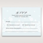 Brown Floral Couture in Blue & White - RSVP Cards - Wedding Stationery - 89