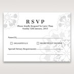 White Laser Cut Floral Frame - RSVP Cards - Wedding Stationery - 6