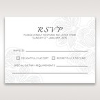 White Laser Cut Floral Lace - RSVP Cards - Wedding Stationery - 31