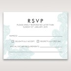 Blue Laser Cut Flower Wrap - RSVP Cards - Wedding Stationery - 57