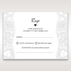 White White Dress - RSVP Cards - Wedding Stationery - 80