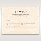 Yellow/Gold Laser Victorian Lace Laser Cut Wrap - RSVP Cards - Wedding Stationery - 22