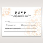 Orange Laser Cut Floral Frame - RSVP Cards - Wedding Stationery - 42