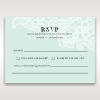 Blue Gatefold Floral Laser Cut - RSVP Cards - Wedding Stationery - 21