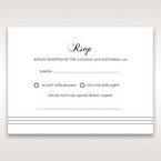 White Modern Pocket-Grey - RSVP Cards - Wedding Stationery - 86