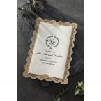 Vintage Lace Frame wedding invitations HB15040_1