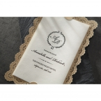 Vintage Lace Frame wedding invitations HB15040_2