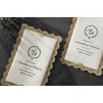 Vintage Lace Frame wedding invitations HB15040_3