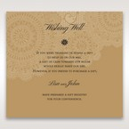 Yellow/Gold Tri-Fold Laser Cut Gold - Wishing Well / Gift Registry - Wedding Stationery - 81