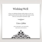 White Jeweled Romance Black Lasercut Pocket - Wishing Well / Gift Registry - Wedding Stationery - 9