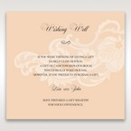 Beige White Laser Cut Wrap with Ribbon - Wishing Well / Gift Registry - Wedding Stationery - 33
