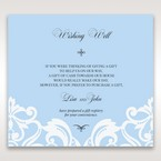 Blue Classy Laser Cut with White Bow - Wishing Well / Gift Registry - Wedding Stationery - 43