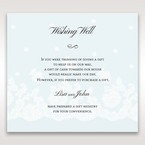 Brown Floral Couture in Blue & White - Wishing Well / Gift Registry - Wedding Stationery - 35