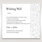 White Elegant Laser Cut - Wishing Well / Gift Registry - Wedding Stationery - 94
