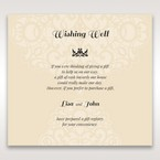 Yellow/Gold Jeweled Laser Cut - Wishing Well / Gift Registry - Wedding Stationery - 76
