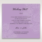 Purple Laser Cut Flower Frame III - Wishing Well / Gift Registry - Wedding Stationery - 50
