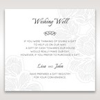 White Laser Cut Floral Lace - Wishing Well / Gift Registry - Wedding Stationery - 53