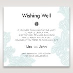 Blue Laser Cut Flower Wrap - Wishing Well / Gift Registry - Wedding Stationery - 81