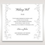 White Modern Times Vintage Pocket - Wishing Well / Gift Registry - Wedding Stationery - 90
