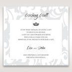 Blue Laser Scrolling Grandeur Layered Laser Cut - Wishing Well / Gift Registry - Wedding Stationery - 66